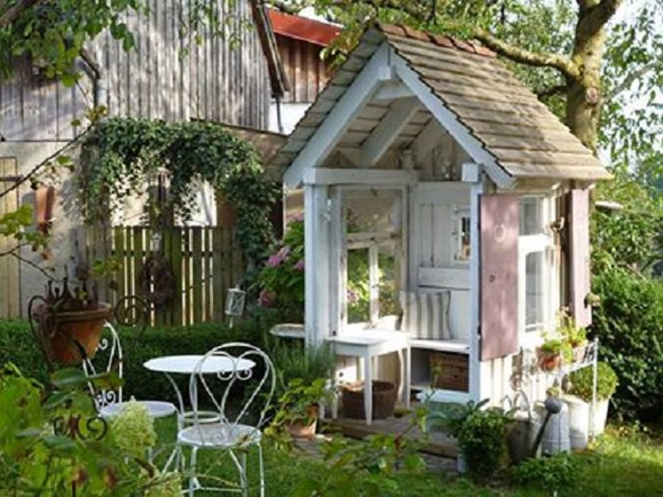 alte fenster Garten, Cottage garten und Mini gartenhaus