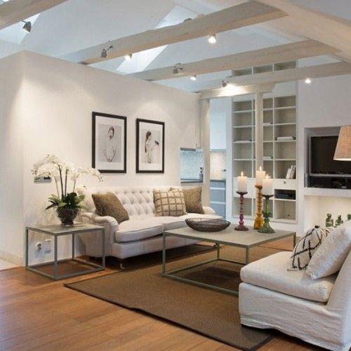 moderne wohnzimmer mit offener kuche einrichtungsideen fr - glastische f r wohnzimmer