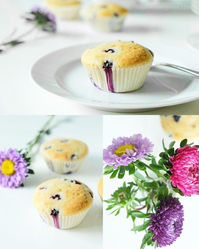 Rezept: Blaubeer Buttermilch Muffins | recipe blueberry buttermilk muffins | baking idea | desserts or afternoon cake | waseigenes Blog