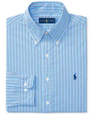 ae3cfb2039 POLO RALPH LAUREN Polo Ralph Lauren Men's Classic-Fit Blue Striped Dress  Shirt. #poloralphlauren #cloth # dress shirts