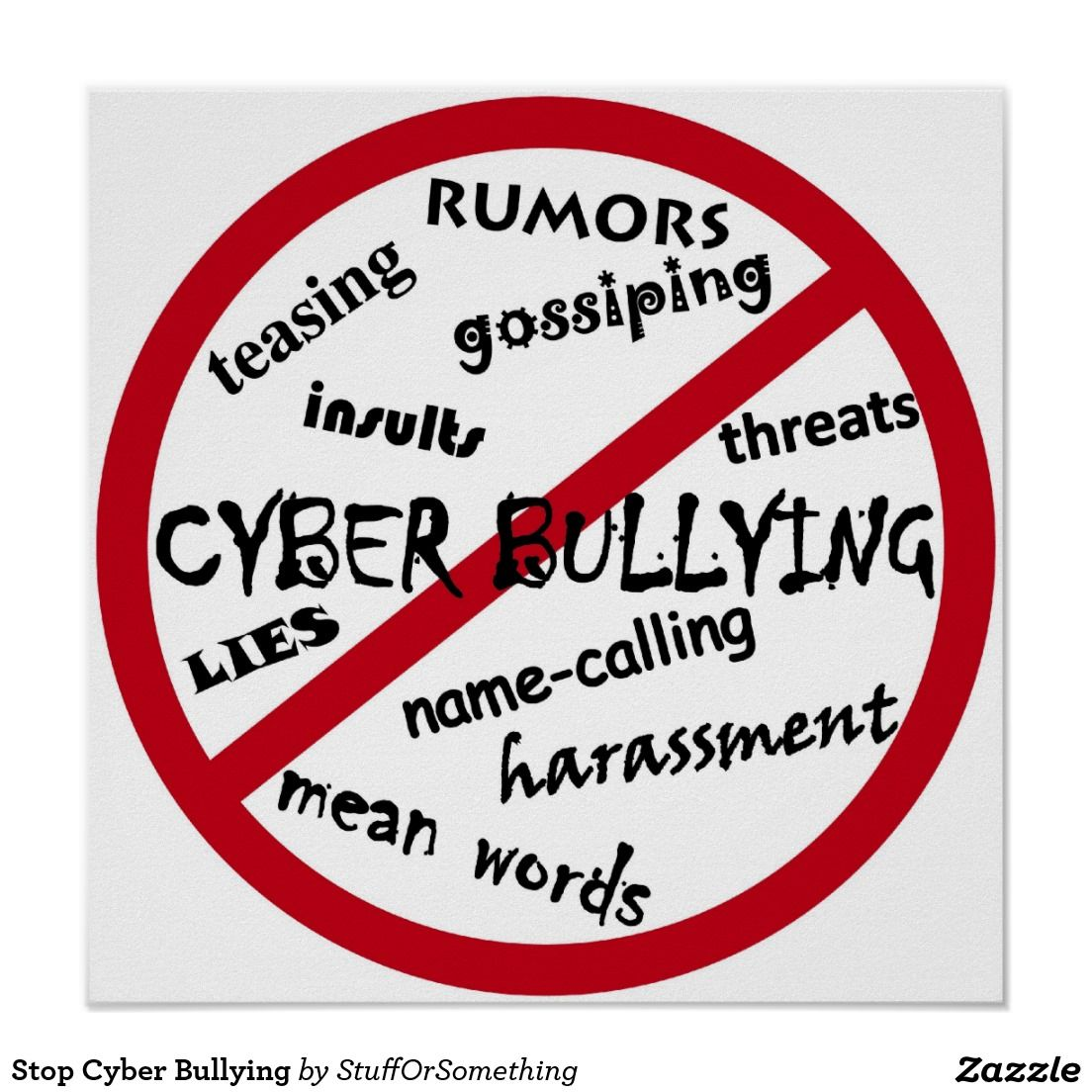 Cyber Bullying Quotes Stop Cyber Bullying Poster  Bullying Posters