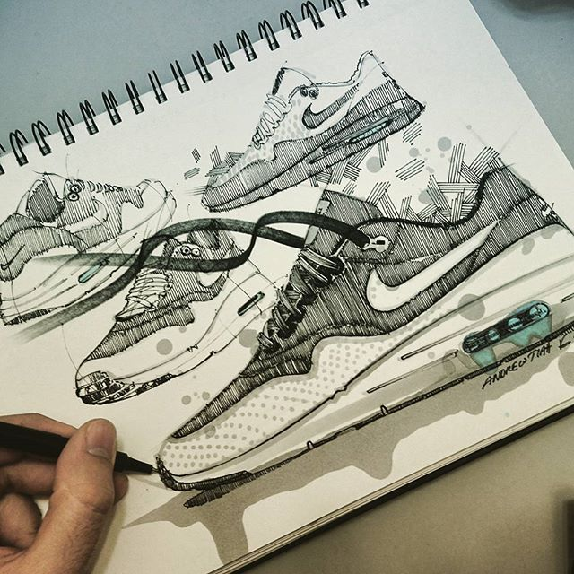 Industrial · nike shoes - design - sketch