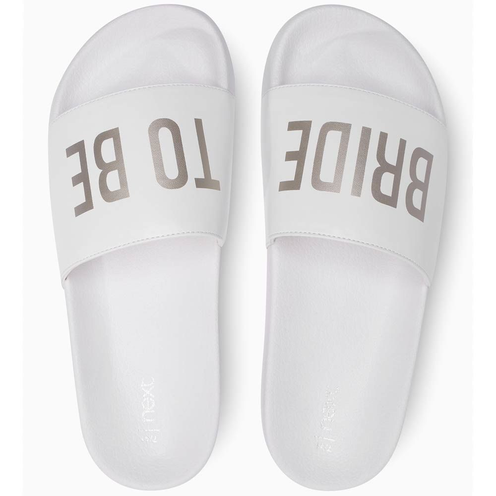 e4f39afab Planning a summer hen party in the sun  These bridal sliders are a great  choice of footwear and will ensure everyone around that pool knows you re  the ...