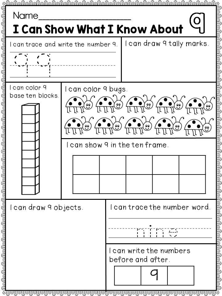 Printable Worksheets kindergarten number worksheets 1-10 : Numbers 1-10 | Math, Kindergarten and Kindergarten math