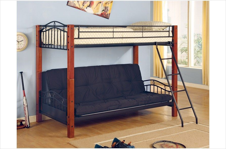 The Simple Stores Metal And Wood Casual Twin Over Futon