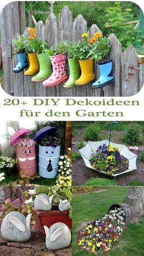 20+ DIY Dekoideen für den Garten \u2013 So einfach ist Gartendeko selber