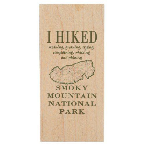 Funny I Hiked Smoky Mountain National Park V Wood USB Flash Drive