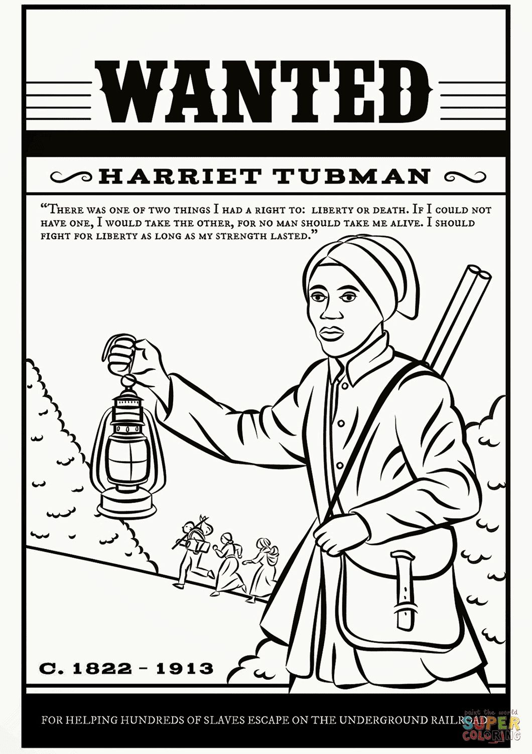 Harriet Tubman Coloring Pages Download