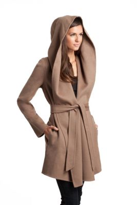 Mia Wool Wrap Coat | GUESS by Marciano | Roupas fashion