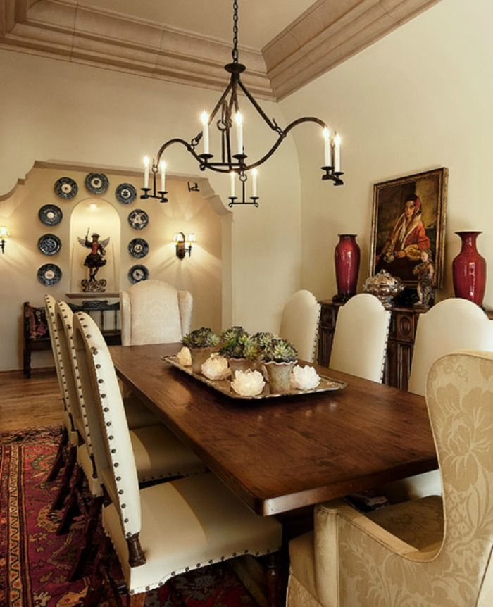 10 Inviting Old World Style Dining Rooms Artisan Crafted Iron Furnishings And Decor Blog Spanish Dining Room Dining Room Decor Traditional Farmhouse Style Dining Room