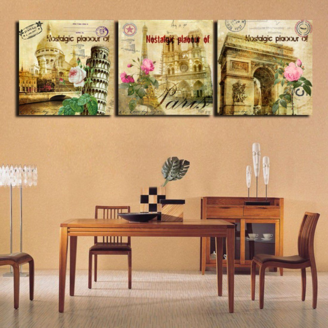 Amazon.com: Hot Sell 3 Panels 40 x 40 cm Modern Wall Painting ...