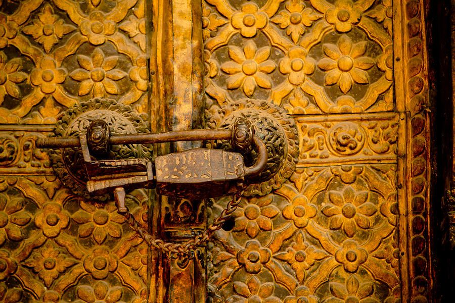 Golden Oldest Door Photograph   Raimond Klavins