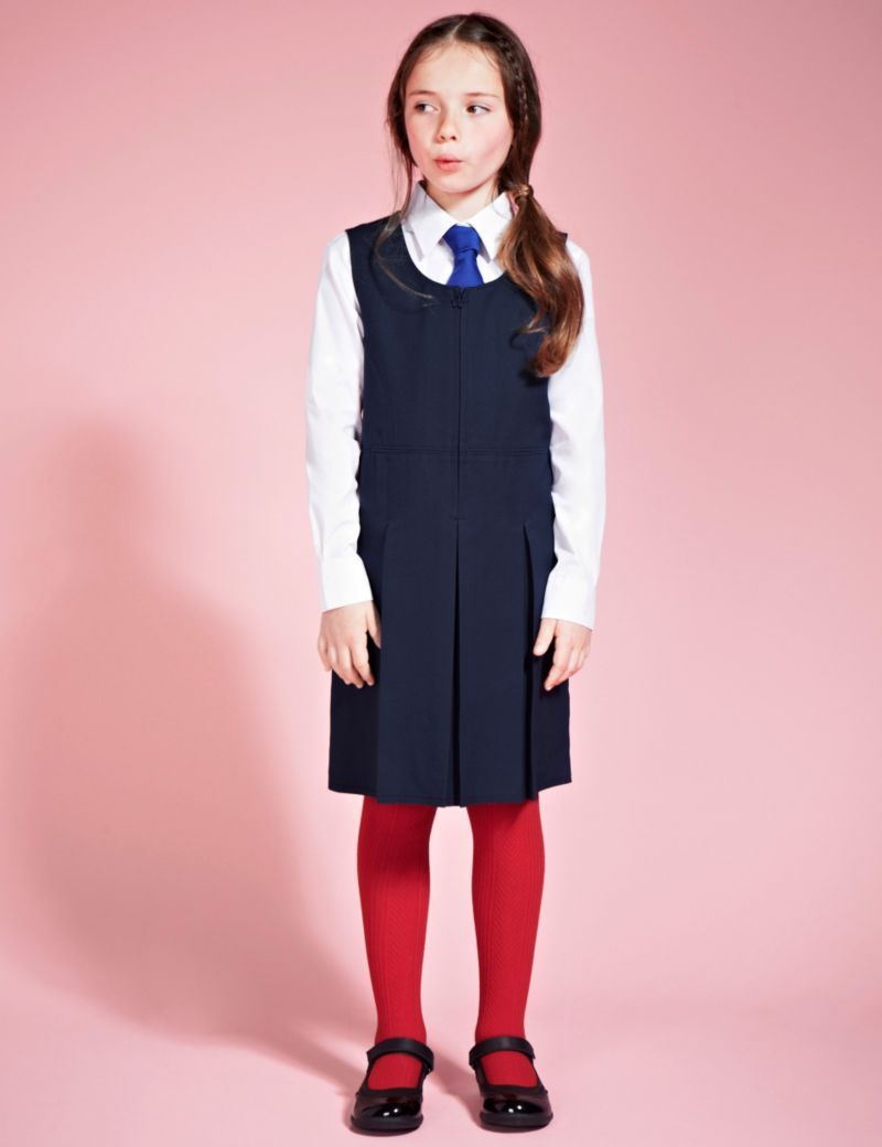 2b23bb6794 Girls' Traditional Pinafore with Permanent Pleats with Stormwear+&tra