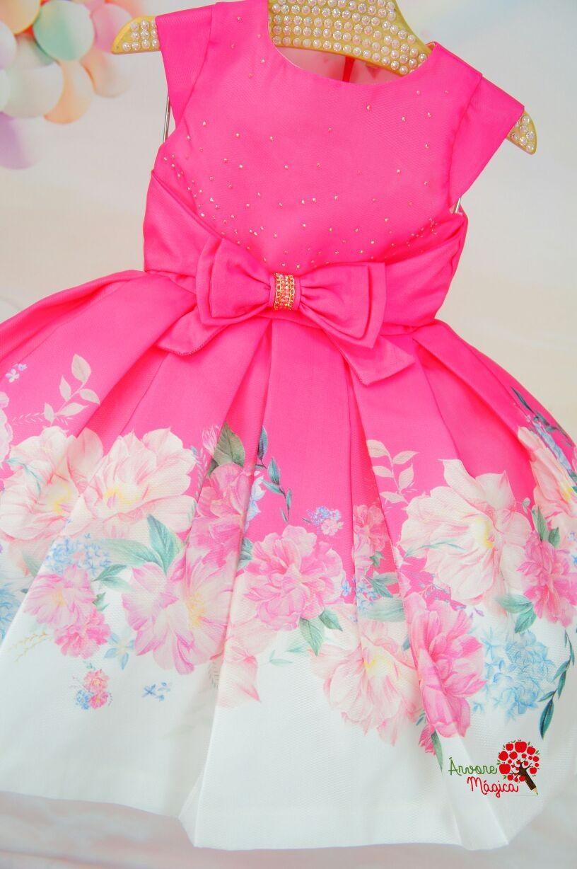 9a4e1f8302 Vestido Infantil de Festa Pink e Flores Petit Cherie Roupa Criança Menino