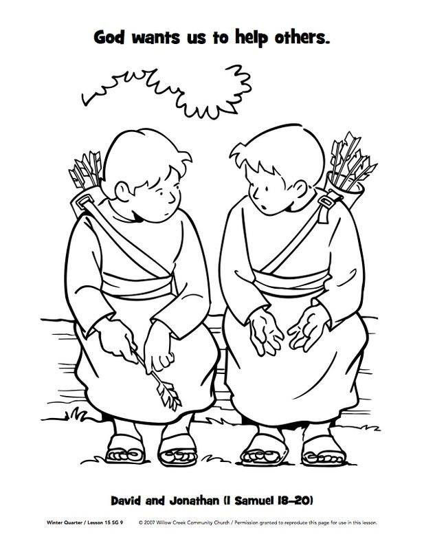 coloring pages david and jonathan - photo#14