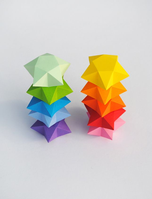 Cut and fold paper stars are a great DIY for the kiddos.