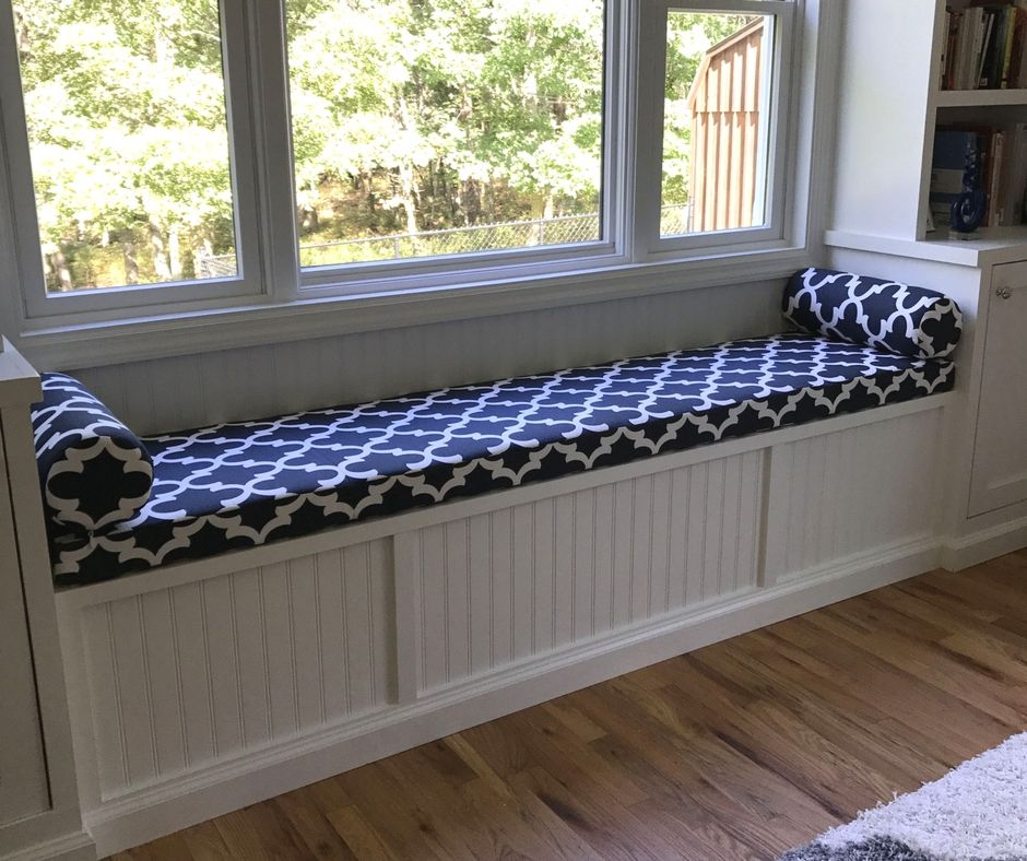 Custom Window Seat Cushion And Bolster Pillows Featuring Premier