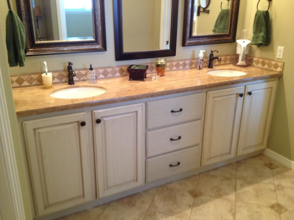 Refinish Bathroom Vanity Cabinets Refinished Bathroom Vanity