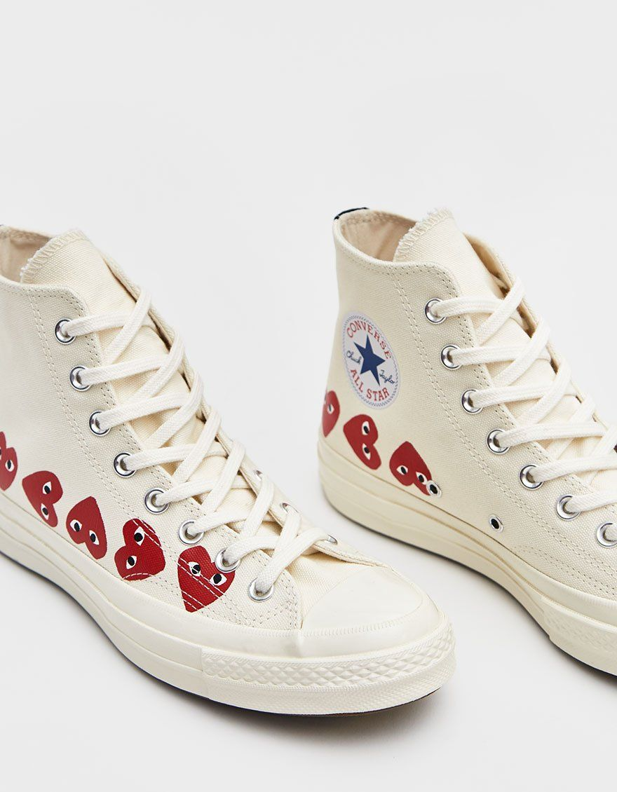 Alabama Dentro Imperativo  Comme des Garçons Play Play Converse Chuck Taylor High Multi Heart Sneaker  in Off White in 2020 | Chuck taylors, Converse chuck taylor, Converse