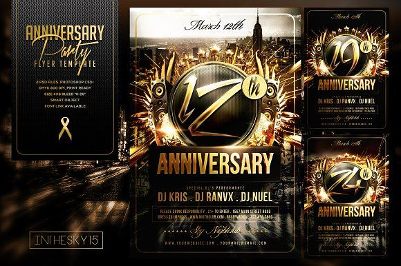 Anniversary Flyer Template Creativework247 Flyer Templates