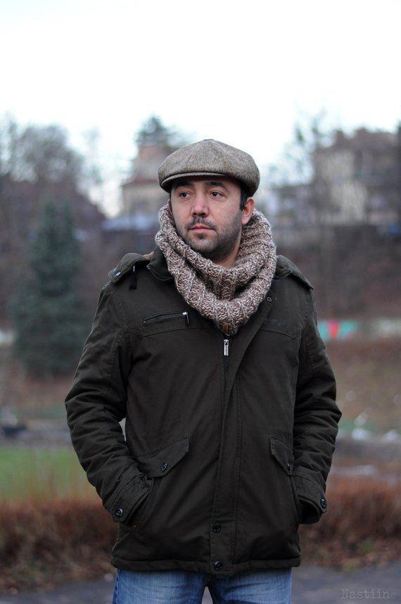 Beige newsboy hat Mens newsboy hat Brown tweed cap Womens newsboy cap  Cabbie hat Womens wool hat Der ef88b1c99020