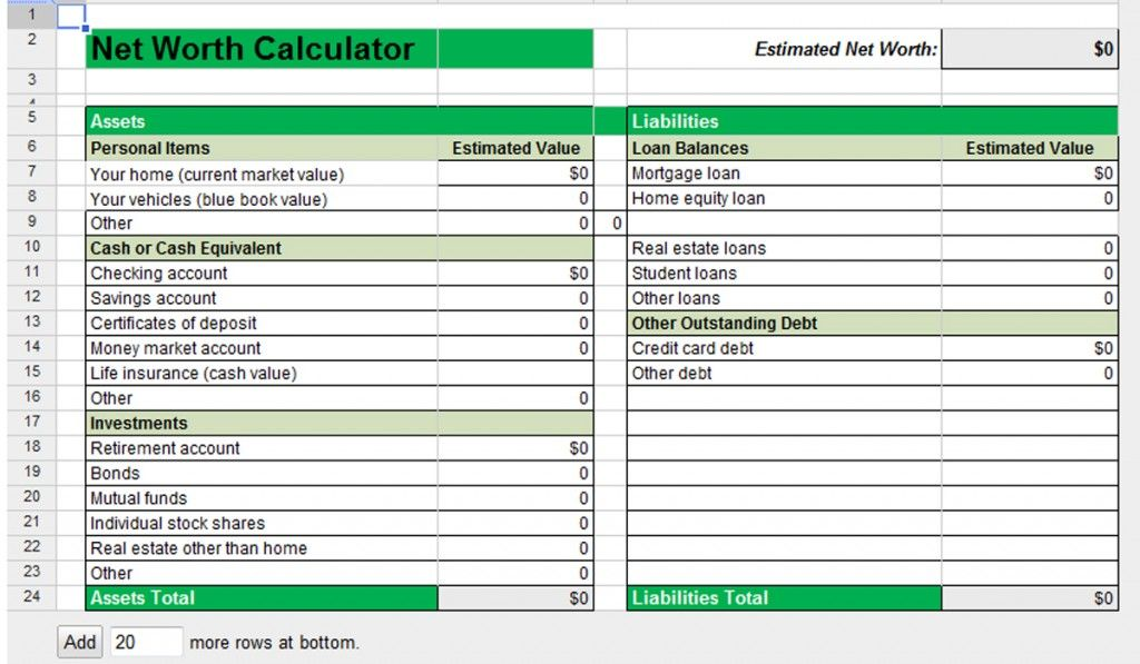 30 Day Budget Bootcamp Calculate Your Household Net Worth Net