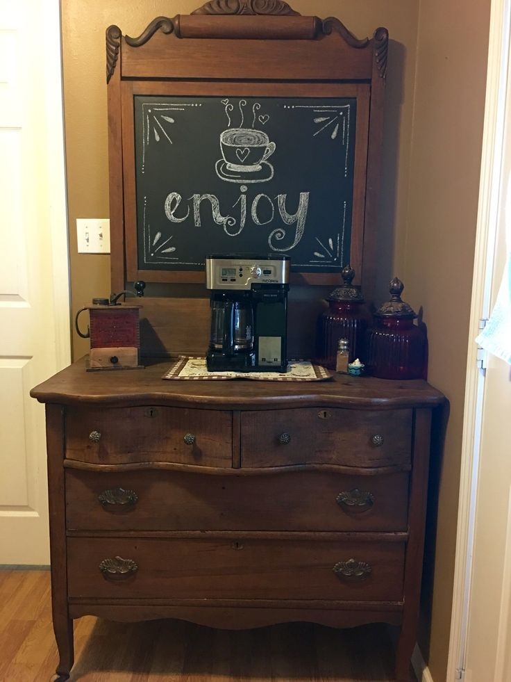 Painted Dresser Coffee Bar