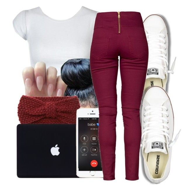 """""""."""" by dopest-qveen ❤ liked on Polyvore featuring Forever 21, Converse and Pieces"""