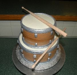 Drum Cakes Ideas Drum cake Decorating Cakes ...