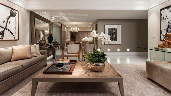 60 modelos de salas de estar decoradas ideas para el for Salas coloniales