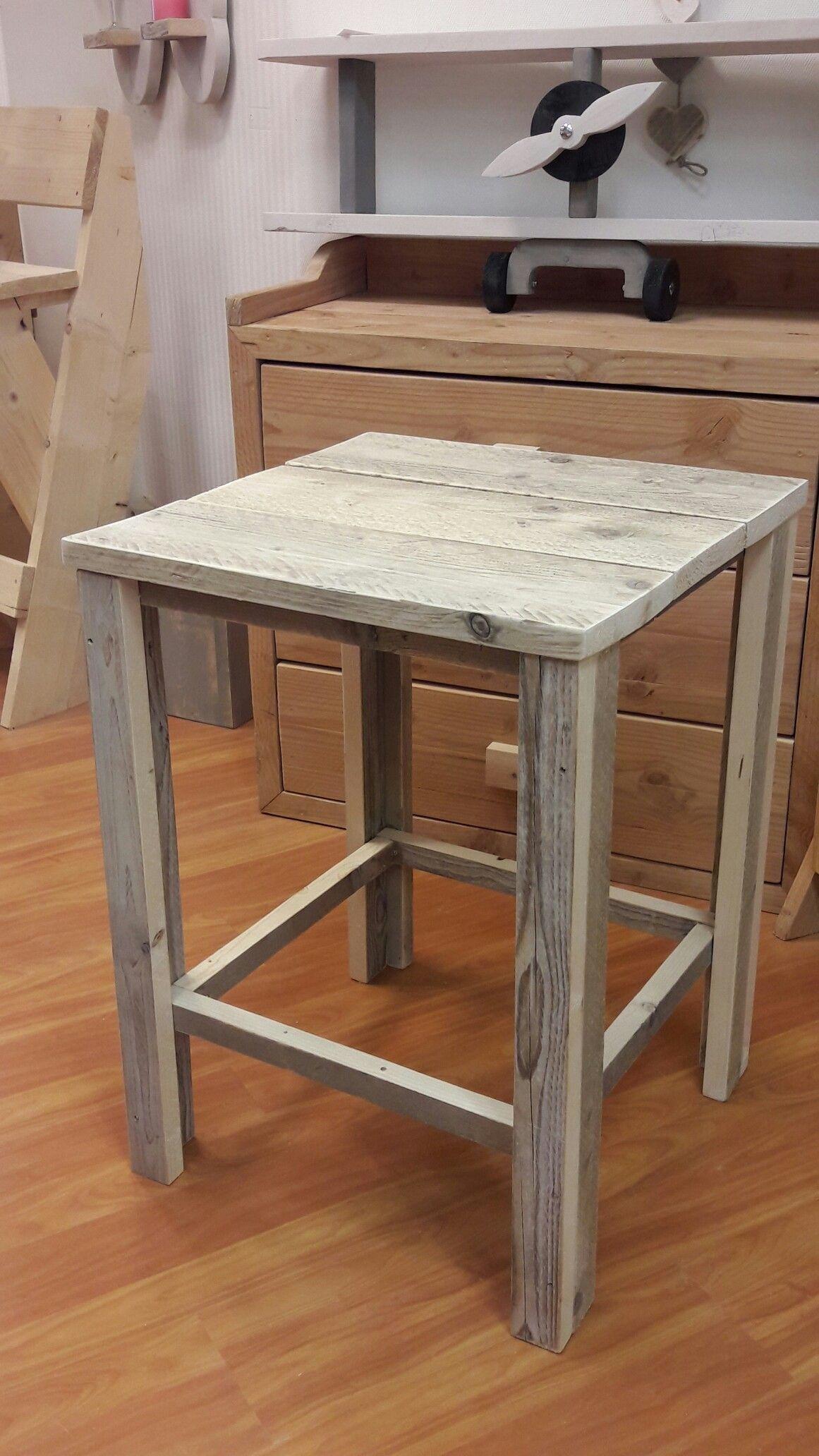 Steigerhouten tafel 60x60
