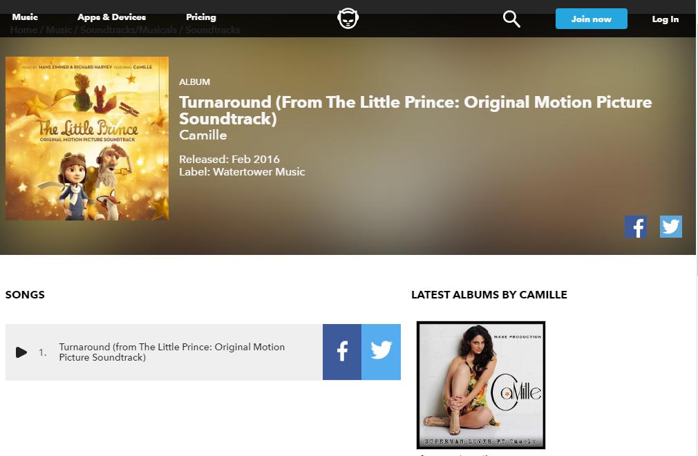 le petit prince soundtrack playlist