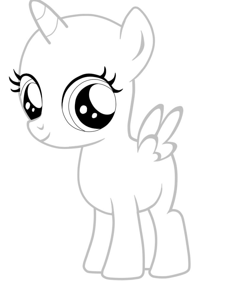 MLP Filly Alicorn Pony Base White comment if you want me ...
