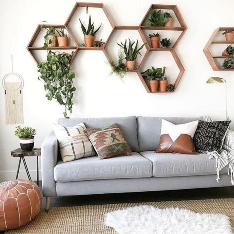 Muurdecoratie Met Planten Muurdecoratie Huis Ideeen Decoratie Woonkamer Decoratie