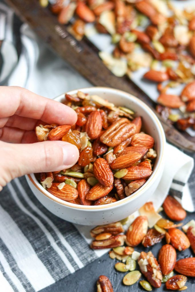 Sweet and Salty Roasted Trail Mix