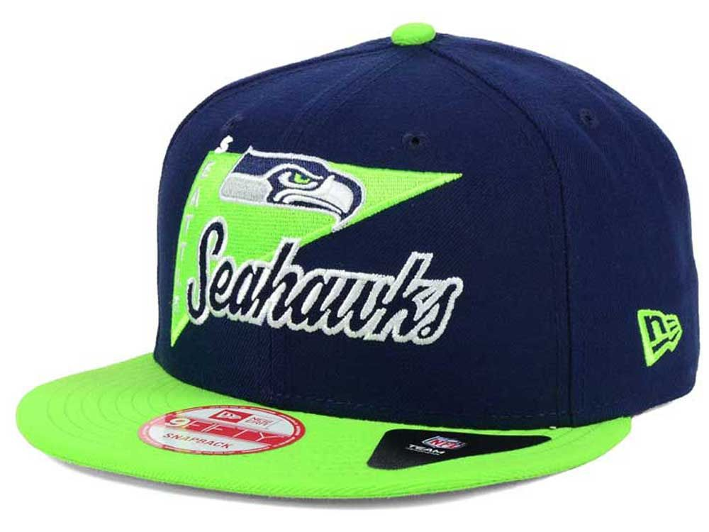 dffc96fe7 Seattle Seahawks New Era NFL Logo Stacker 9FIFTY Snapback Cap ( 10 ...