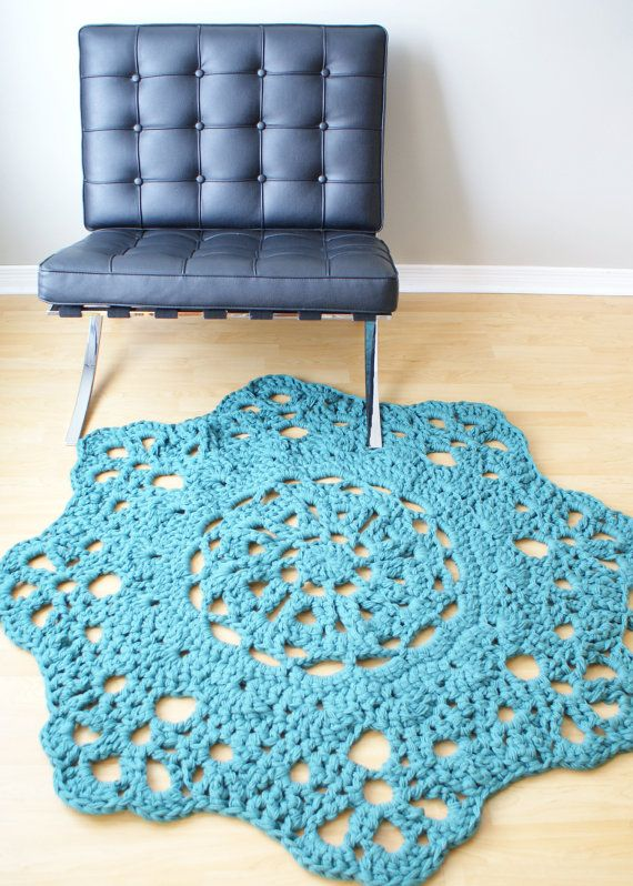 DIY Crochet PATTERN - Throw Blanket / Rug Super Chunky Doily 8 ...