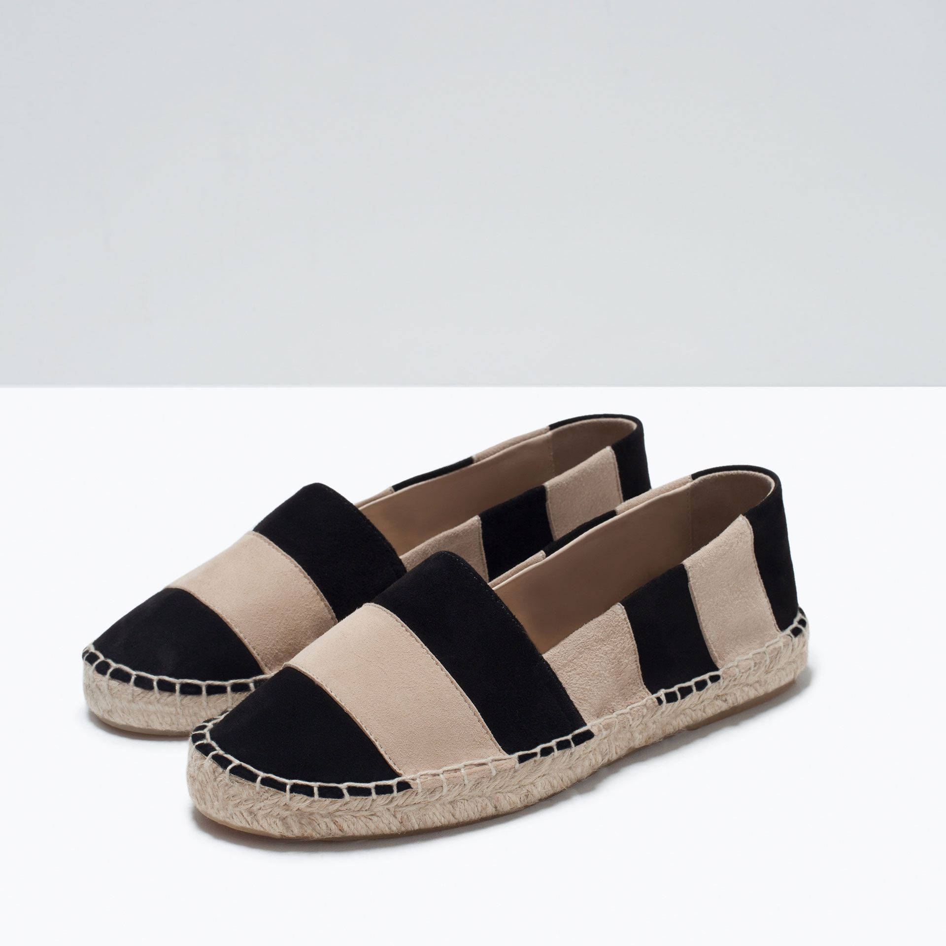STRIPED LEATHER ESPADRILLES - Shoes - Woman - SHOES & BAGS | ZARA United  Kingdom