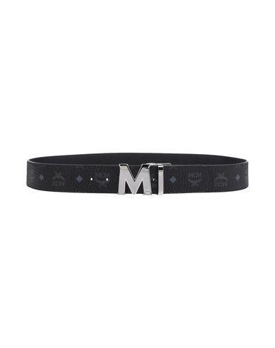 MCM Men's Belt Black 45.5 inches