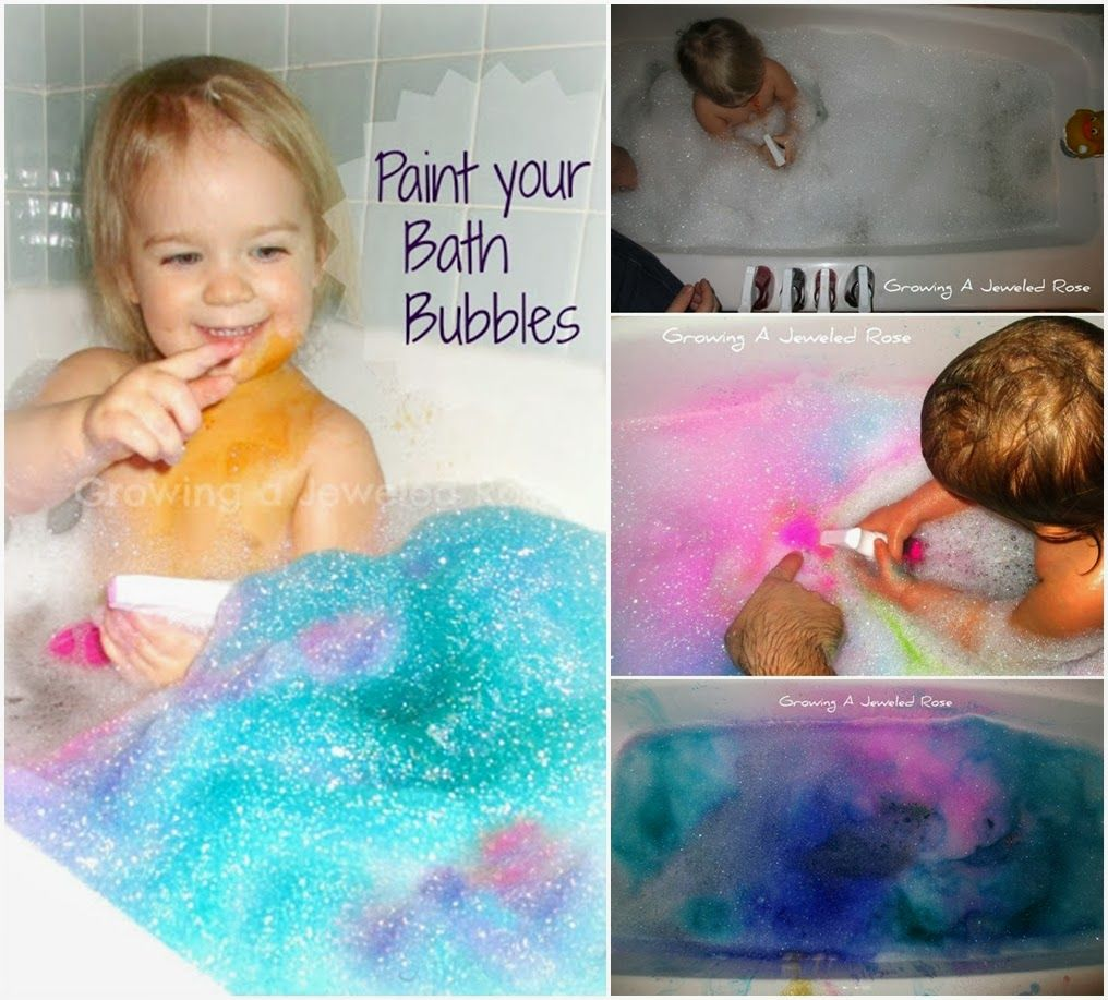Diy Bubble Bath Spray Painting Diy For Kids Craft Projects For