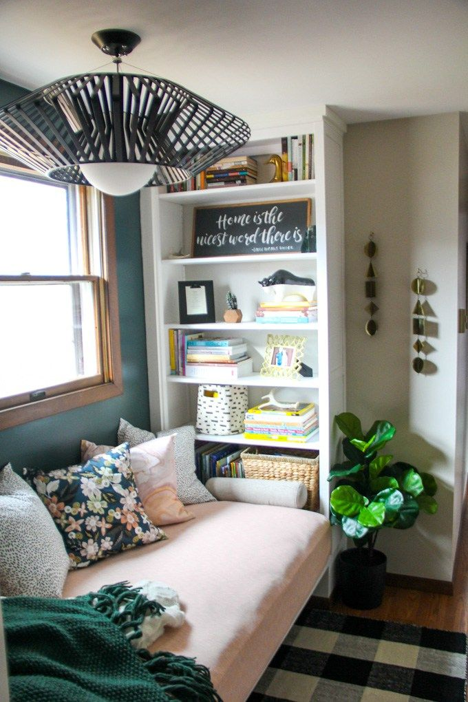 Reading Nook With Built In Bookshelves Ikea Billy Bookcase