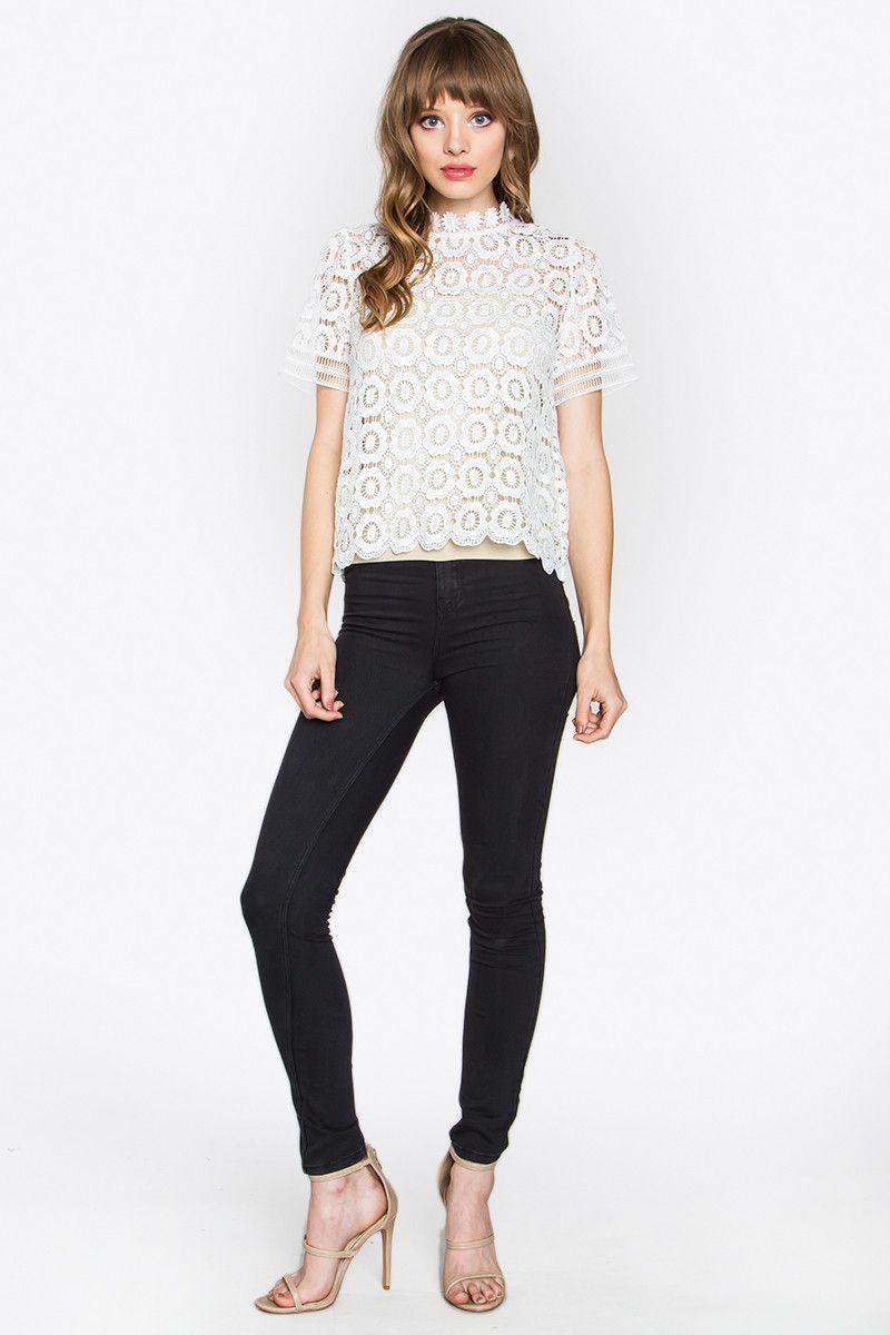 Kate Crochet Top  16af8b08832