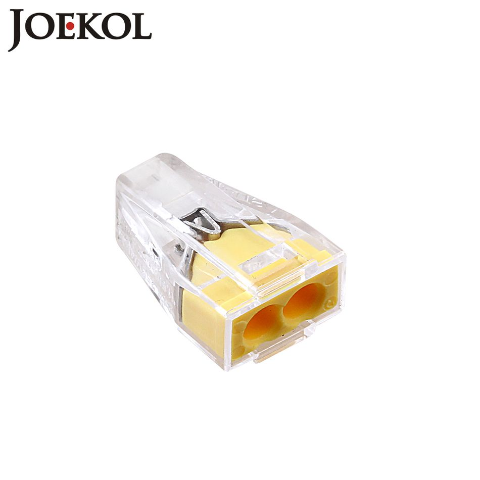 10 pcs/lot) PCT-102(WAGO 773-102) Push wire connector 2 pin ...