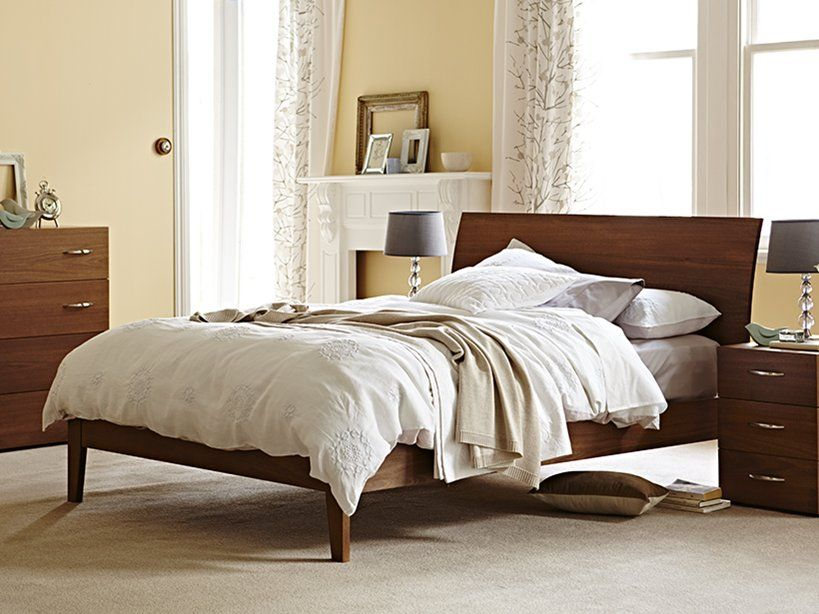 Snooze- My Design Queen Bed Frame (curved headboard & standard base ...
