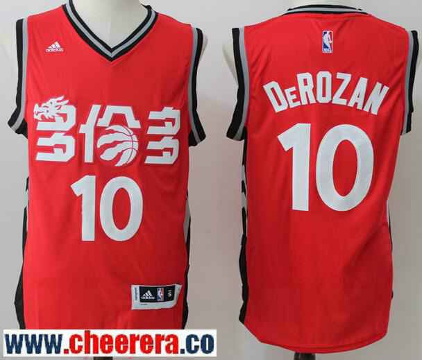 8a0d9b8c4 Men s Toronto Raptors  10 DeMar DeRozan Red Chinese Stitched 2017 NBA  adidas Revolution 30 Swingman