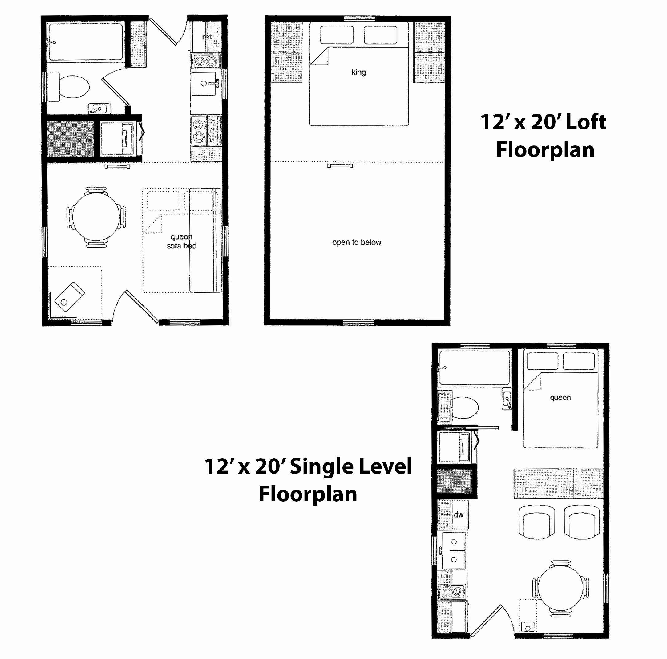 19 Open Floor Plan With Loft 12 24 Cabin Floor Plans Fresh 16 24 Floor Plan Best Jbr In 2020 Loft Floor Plans Cabin Floor Plans Tiny House Floor Plans