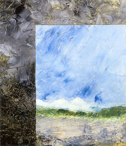 August Strindberg:   Dual screen, 1892,  oil on plywood, 40 x 34 cm.  Private collection.