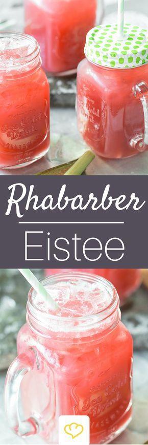 Erfrischender Rhabarber-Ingwer-Eistee #lemonade