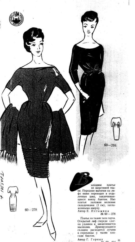 FREE Vintage Dress Sewing Draft Pattern Picture for Vintage casual ...