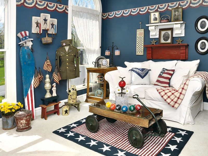 Amazing Image Of: Americana Home Decor